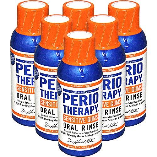 TheraBreath dentista recomienda Periotherapy encías sanas enjuague bucal, 3 onzas (paquete de 6)