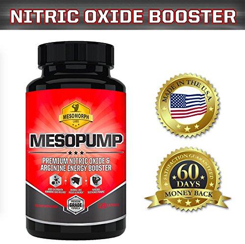 Refuerzo de óxido nítrico MESOPUMP alimentados con L-arginina y los precursores NO2 | Suplemento de óxido nítrico gran para los culturistas, Crossfitters y atletas con una garantía trasera 100% del dinero | Por los laboratorios de mesomorfo