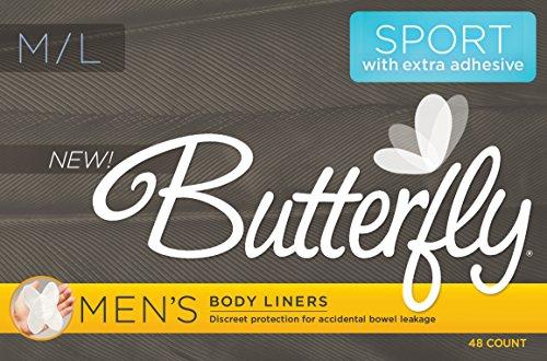 Cojines de la mariposa / trazadores de líneas del cuerpo del intestino fugas deporte versión - cuenta de 48 M/L de los hombres