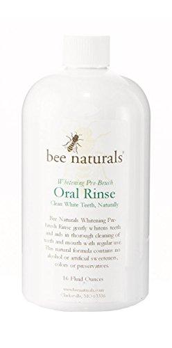 Mejor para blanquear enjuague Oral pre-cepillo - dientes blancos limpio naturalmente - incluye xilitol - ingredientes naturales por los productos naturales de la abeja