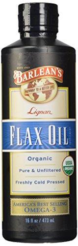 Aceites orgánicos alto de lignanos de lino aceite de Barlean de botella de 16 onzas