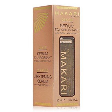 Makari oro 24K Serum - con ácidos grasos omega 3 y probióticos - Excelente para Lucha contra el envejecimiento, aligeramiento, estrías, cicatrices y elimina.