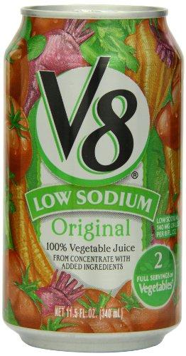 V8 Jugo de vegetales bajo contenido de sodio 100%, 11,5 Fl Oz latas (paquete de 24)