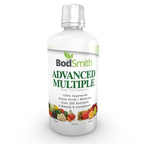 BodSmith había avanzada multivitamínico líquido - Multi vitaminas, minerales y aminoácidos antioxidantes sobre 200 nutrientes 8 mezclas y complejos, 32 FL. oz.
