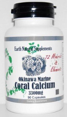 Calcio de Coral marino de Okinawa * 180 cápsulas de calcio de Coral marino de Okinawa 3300 Mg con oligoelementos (2 botellas)