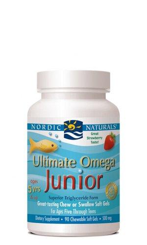Nordic Naturals - Junior Ultimate Omega, soporte para un corazón sano, cuenta 90