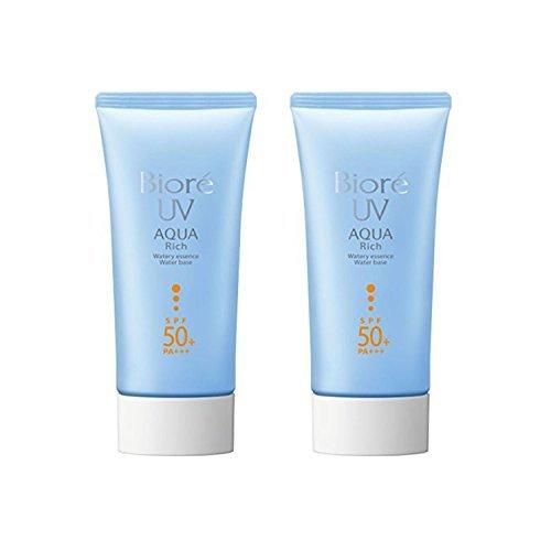 Biore Sarasara UV Aqua esencia acuosa rica crema solar SPF50 + PA +++ 50g (paquete de 2)