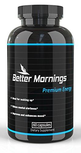 Mejor por la mañana Nootropic energía cápsulas | Café y energética bebida de reemplazo | Mejor píldoras de energía sin nerviosismo | Suplemento del cerebro | Enfocar las píldoras con feniletilamina | Fuertes vitaminas para la energía