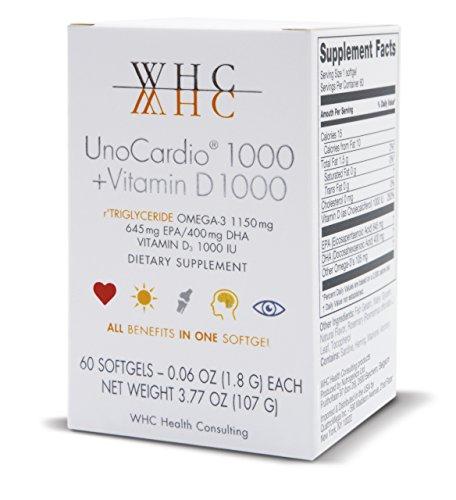 UnoCardio 1000 + vitamina D 1000-60 cápsulas