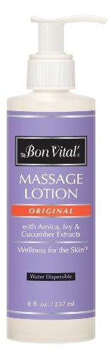 Bon Vital Original masaje de loción, botella de 8 oz con bomba