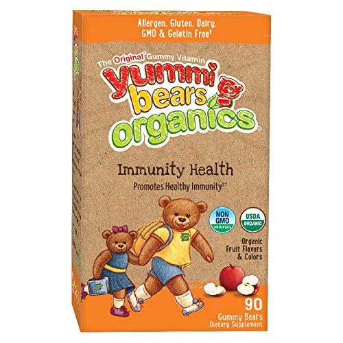 Yummi osos orgánicos inmunidad suplemento de la salud para niños, 90 osos Gummy