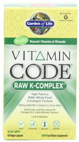 Jardín de vida vitamina Code ® - complejo de K, 60 cápsulas