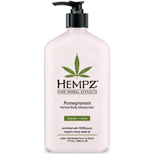 Hempz Herbal cuerpo crema hidratante, rosa claro, Granada, 17 onzas de líquido
