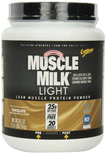 CytoSport muscular genuina leche luz muscular magra proteínas en polvo, Chocolate, 1,65-libra tarro