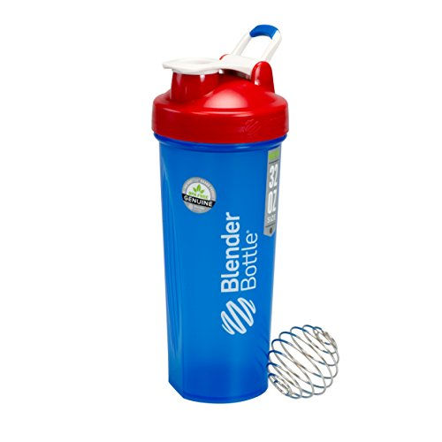 BlenderBottle Full Color botella - todos los colores americano con vibrador bola - rojo, blanco y azul - 32oz
