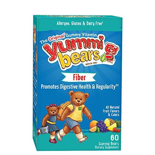 Yummi osos fibra suplemento para niños, osos gomosos de 60-Count