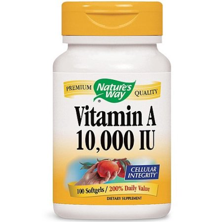 Nature's Way Vitamina A 10.000 UI - 100 cápsulas