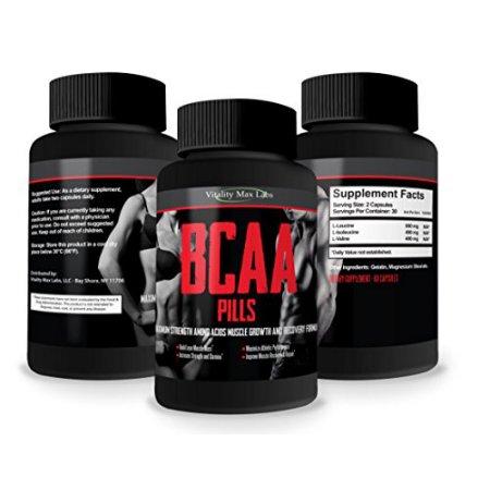 Pastillas de BCAA - # 1 Calificación Aminoácidos Fórmula - Construir el músculo Combate los desgarros musculares - aumentar la resistencia y el tiempo de recuperación