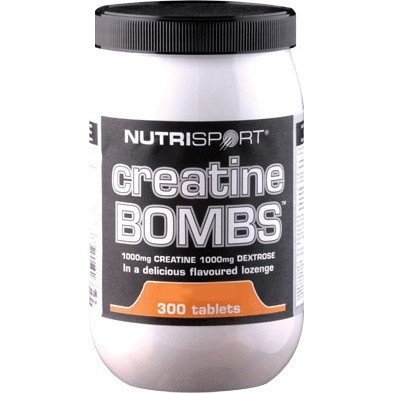 (Pack 2) bombas de creatina - Nutrisport - Chocolate | 300 | PACK 2 PAQUETE