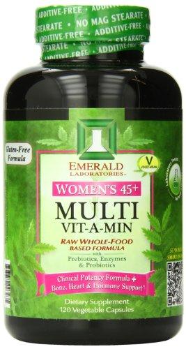 Laboratorios Esmeralda mujeres 45 Plus Multi vitamina, cuenta 120