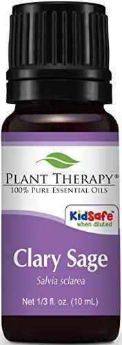 Aceite esencial de salvia. 10 ml. 100% puro, sin diluir, terapéuticas grado.