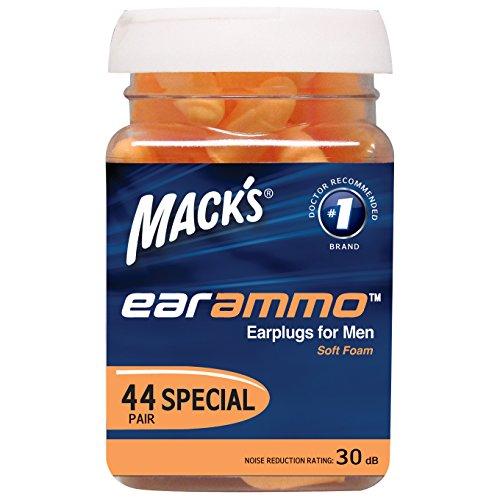 Oído cuidado oído munición tapones para los oídos de Mack para los hombres, cuenta 44
