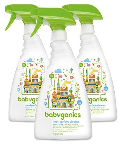 Babyganics Multi limpiador superficial sin, perfume atomizador de 32 onzas (paquete de 3)