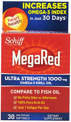 Fuerza de MegaRed Ultra Omega 3 Krill aceite suplemento de 1000mg, Conde 30