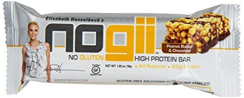 Proteínas Nogii de la barra sin Gluten, mantequilla de maní y Chocolate 12, 1,90 onzas barras por paquete