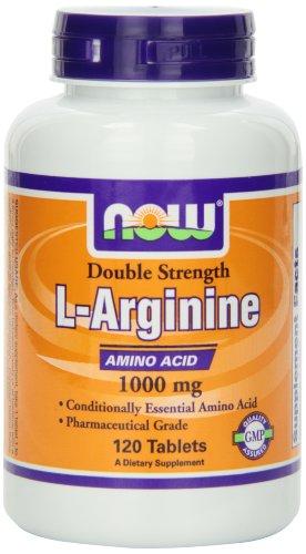 AHORA alimentos L-arginina 1000mg, 120 tabletas