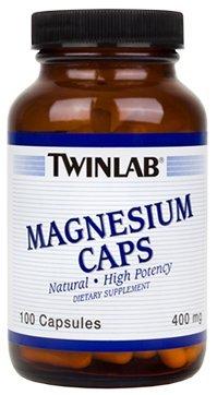 TwinLab - tapas de magnesio, 400 mg, 100 cápsulas