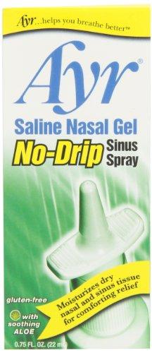 Ayr Gel Nasal salina del ninguno-goteo sino Spray calmante Aloe Vera, botella de Spray de 0.75 onzas