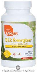 Zahler - B12 energizante sabor cereza Natural - 360 pastillas