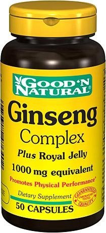Good Natural - complejo de Ginseng y jalea real 1000 mg, 50 Caps