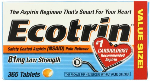 Ecotrin baja dosis 81 Mg tabletas, 365 tabletas