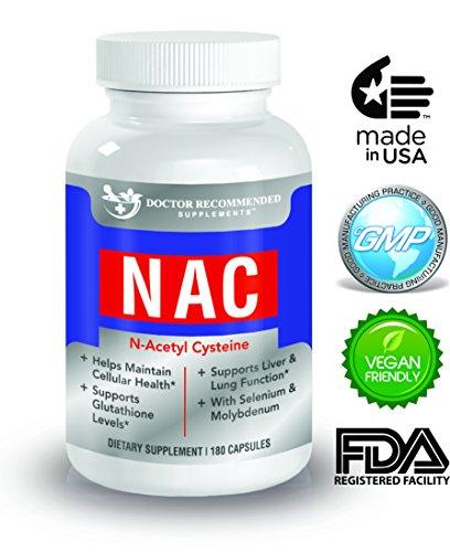 Alta calidad NAC - 600 mg - 180 cápsulas vegetales - médico recomienda suplementos-apoya un hígado sano y salud general y la inmunidad