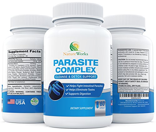 limpieza de parásitos de nuez