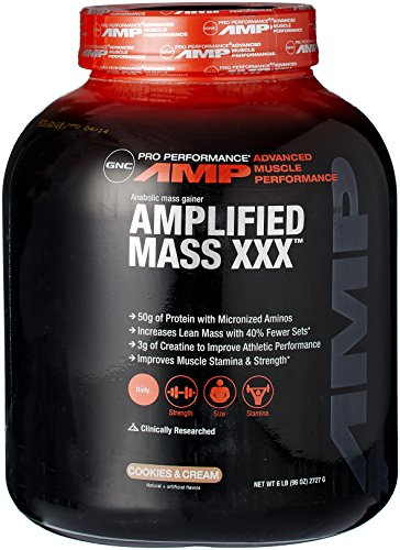 GNC Pro Performance ® AMP Amplified 100% proteína de suero de leche-Cookies & Cream 6 libras