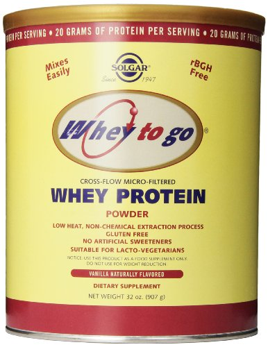 Solgar - Whey proteína vainilla Natural en polvo, polvo de 32 onzas