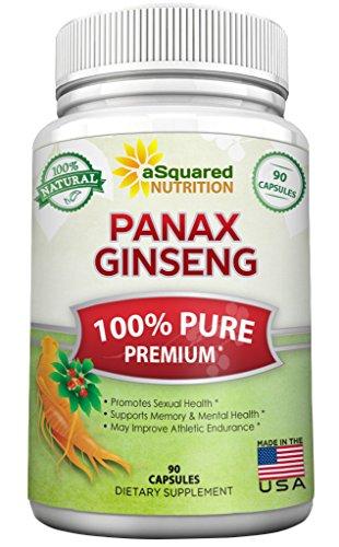 Puro rojo coreano Panax Ginseng (fuerza máxima de 1000 mg) 90 cápsulas de extracto de la raíz compleja, de alta potencia de ginsenósidos en semillas, suplemento en polvo asiático, tableta las píldoras para sexo y la Salud Mental para los hombres y las muj