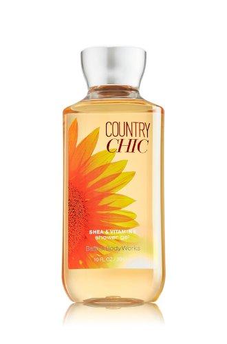 Baño y cuerpo funciona karité enriquecida Gel de ducha nuevo mejorada fórmula 10 oz. (Country Chic)