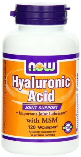 AHORA alimentos de ácido hialurónico y MSM, 120 Vcaps