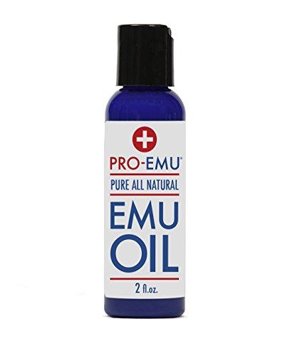 PRO aceite de EMÚ (2 oz) puro todos aceite de Emu - AEA certificado - hecho en USA - mejor todo el aceite Natural para la cara, piel, pelo y uñas. Excelente para la piel seca, quemaduras, quemaduras, cicatrices, músculos y articulaciones