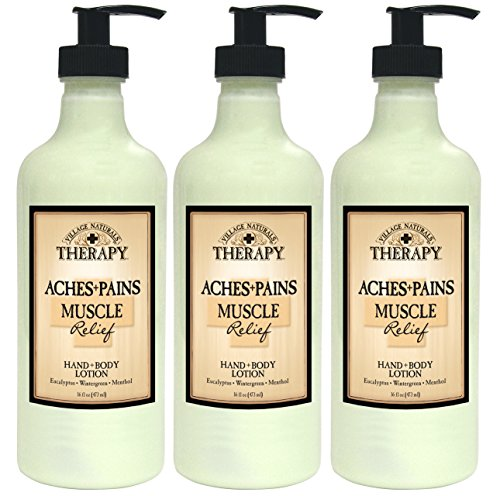 Pueblo naturales terapia muscular alivio Natural loción 16 fl oz (3-Pack)
