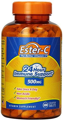 Ester-C 24 horas soporte inmune 500 mg ácidos estómago amistoso, tabletas, con cubierta 300-Conde
