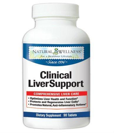 Natural Wellness apoyo clínico de hígado -90 vcaps - 12 suplementos naturales en 1 botella de dirección todas hígado sus necesidades