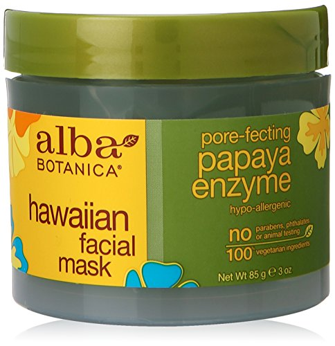 Alba Botanica hawaiano, Máscara Facial de la enzima de Papaya, 3 onzas