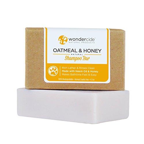 Avena natural y miel champú para perros y gatos con espuma de ricos   Limpiador calmante para seco, sensible de la piel   Parabeno, sulfato y ftalato-libre   4,3 oz Eco-Friendly Bar No plástico basura