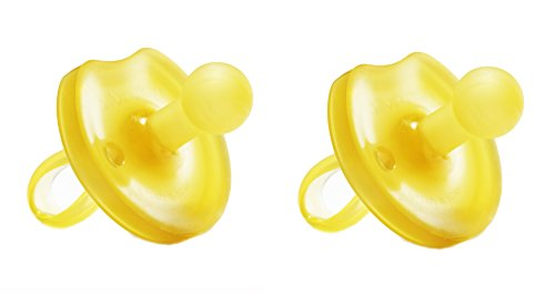 Natursutten 2 paquete BPA libre chupete de caucho Natural, mariposa redondeada, 6-12 meses