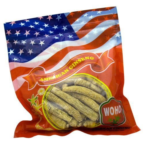 WOHO American Ginseng #102.8 largo medio raíces 8 Oz bag